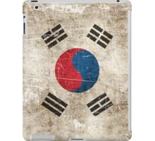 Vintage Aged and Scratched South Korean Flag iPad Case/Skin