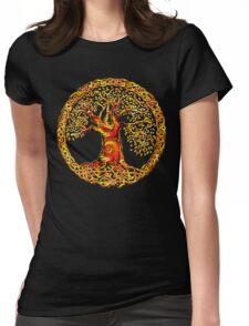 TREE OF LIFE - orange crush Womens Fitted T-Shirt