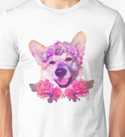 Flower Corgi Unisex T-Shirt