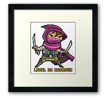 Level 20 Assassin Framed Print