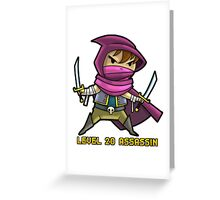 Level 20 Assassin Greeting Card