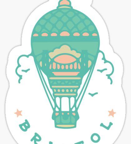 Bristol Hot Air Balloon Tattoo style  Sticker