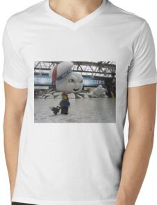Attack of Stay Puft Mens V-Neck T-Shirt