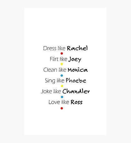 Friends Graphic Photographic Print