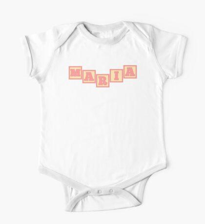 Baby Maria in alphabet building blocks One Piece - Short Sleeve