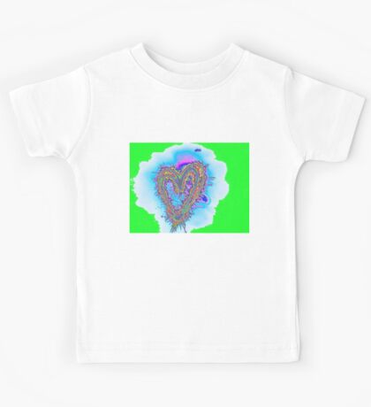 electric green heart Kids Tee
