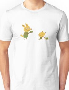 Foxes and snail Unisex T-Shirt