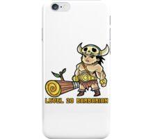 Level 20 Barbarian iPhone Case/Skin