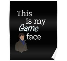 Game face dark t-shirt Poster
