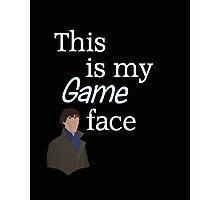 Game face dark t-shirt Photographic Print