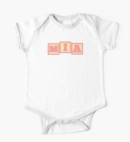 Baby Mia in alphabet building blocks One Piece - Short Sleeve