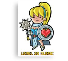 Level 20 Cleric Canvas Print