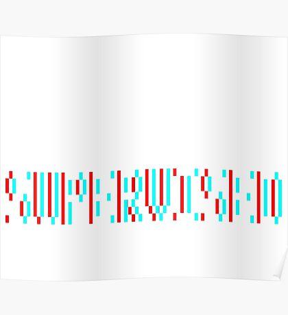 The revolution will not be supervised logo, white font (3D) Poster