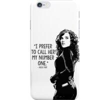 Black Widow Marvel Avengers Typography iPhone Case/Skin