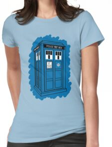 Tardis Scribble Womens Fitted T-Shirt