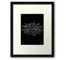 Typography on Typography Framed Print