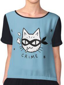 Cat Crime Chiffon Top