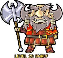 Level 20 Dwarf by WarpZoneGraphic