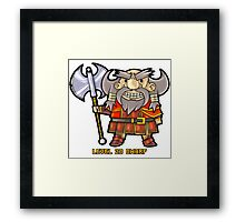 Level 20 Dwarf Framed Print