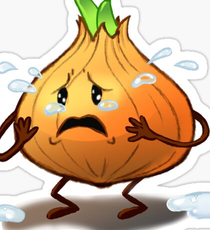 Crying Onion Sticker