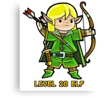 Level 20 Elf Canvas Print