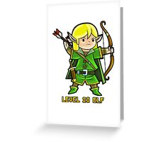 Level 20 Elf Greeting Card