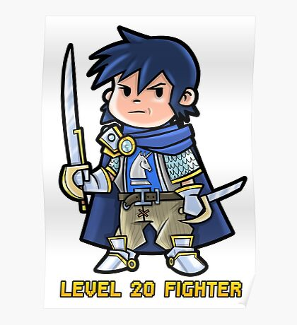 Level 20 Fighter Poster