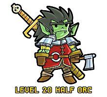 Level 20 Half Orc Photographic Print