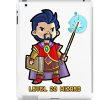 Level 20 Wizard iPad Case/Skin