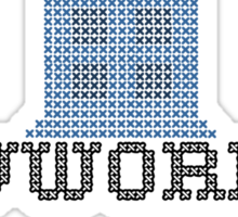 TARDIS - Doctor Who Cross Stitch - Vworp Sweet Vworp Sticker