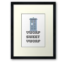 TARDIS - Doctor Who Cross Stitch - Vworp Sweet Vworp Framed Print