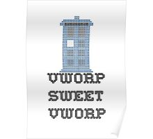 TARDIS - Doctor Who Cross Stitch - Vworp Sweet Vworp Poster