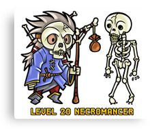 Level 20 Necromancer Canvas Print