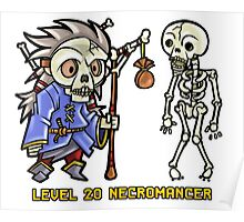 Level 20 Necromancer Poster