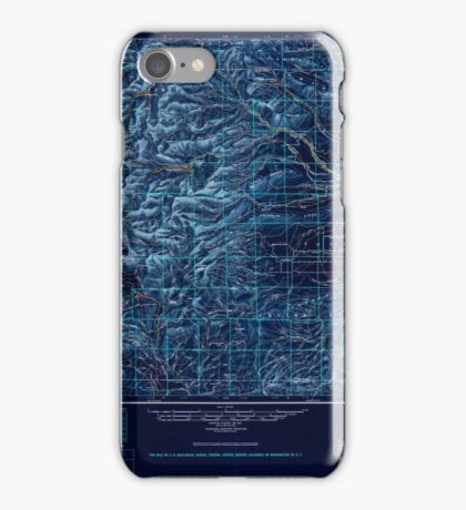 USGS Topo Map Washington State WA Yakima 244823 1950 250000 Inverted iPhone Case/Skin