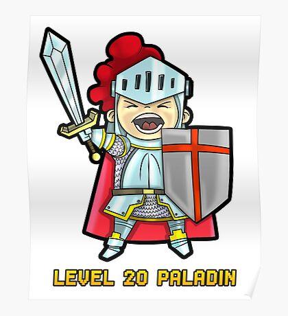 Level 20 Paladin Poster
