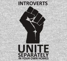 Introverts Unite (black on light) Kids Clothes