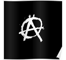 Anarchy Black Logo Poster