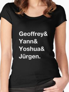 Geoffrey & Yann & Yoshua & Jürgen (white) Women's Fitted Scoop T-Shirt