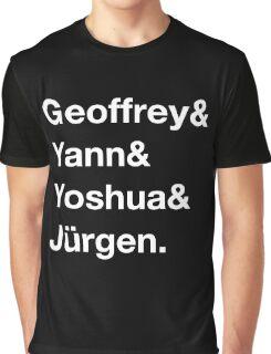 Geoffrey & Yann & Yoshua & Jürgen (white) Graphic T-Shirt