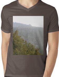 TREES & CLIFF Mens V-Neck T-Shirt