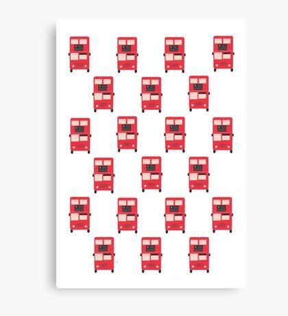 Red Double Decker Bus - Vintage London, England, UK Canvas Print