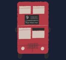 Red Double Decker Bus - Vintage London, England, UK Kids Tee