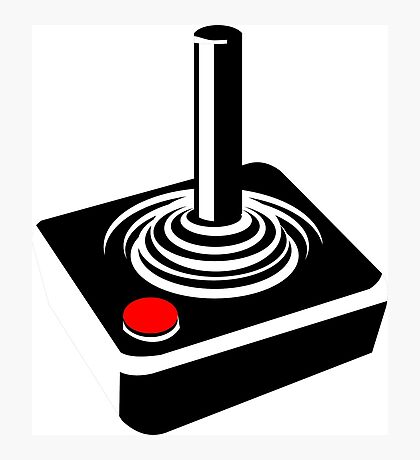 Classic Video Games Joystick Clothing and Merchandise Photographic Print