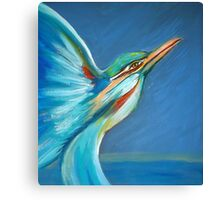 Flight of the Kingfisher by Sheridon Rayment Canvas Print
