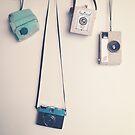 Hanging Cameras by Caroline Mint