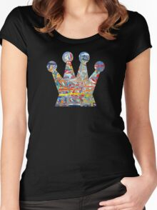 Graffiti crown Women's Fitted Scoop T-Shirt