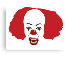 Pennywise the Clown from Stephen King's IT Canvas Print
