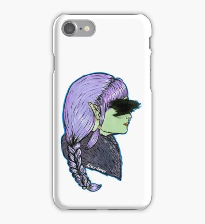 Censored Alternative Elf Woman iPhone Case/Skin
