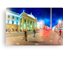 O'Connell Street in Motion - Dublin at Night Canvas Print
